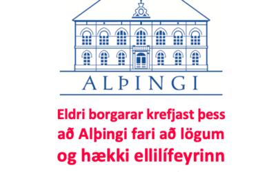Stjórn og kjaranefnd LEB álykta um kjör eldri borgara