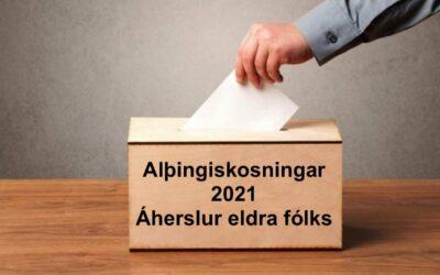 Áherslur eldra fólks vegna komandi Alþingiskosninga