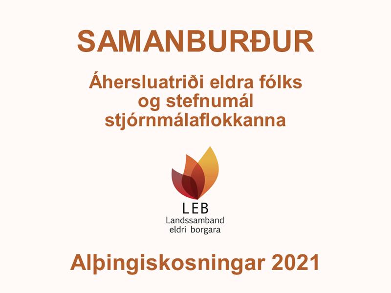 Samanburður LEB – Alþingiskosningar 2021